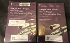 Great Courses-CDs, No Book- Analysis And Critique: How To Engage & Write...