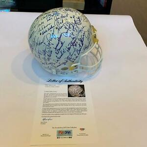 The Finest Quarterbacks Signed Helmet 68 Sigs Johnny Unitas Bart Starr PSA DNA