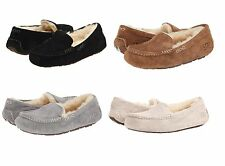 UGG Brand Women's Ansley Slippers Black Chestnut Grey Suede Casual shoes