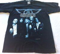 Vintage 1997 Aerosmith Concert T Shirt Medium 9 Lives World Tour Made in Canada