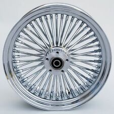 "FAT SPOKE 16"" REAR WHEEL CHROME HARLEY SOFTAIL FLSTF FAT BOY FLST FLSTC HERITAGE"