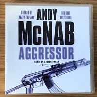 AUDIO BOOK Andy McNab AGGRESSOR read by Steven Pacey on 3 x CDs