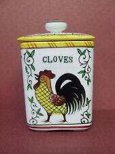 Vintage Holt Howard Rooster & Roses Spice (Cloves) Jar (PY/Japan)