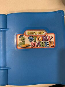 Vintage See 'N Say Story Maker Blue Silly Sentences Book Worm 1991 WORKS