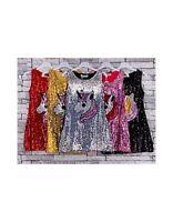 Girls Unicorn Sequin Dress Kids Animal Tunic Sparkle Summer Sleeveless Age 3-14
