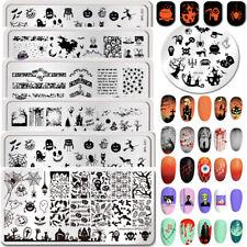 Halloween Nail Art imagen Sello Sellado Placas Plantilla Stencil Hazlo tú mismo Born Pretty