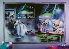 """Halloween Sale Party Decoration Glow in the Dark Mad Scientist Wall Decal 44""""x29"""