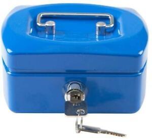 Idena Geldkassette Kasse Tresor Geldkasse Abschließbar Metallkasette Schlüssel