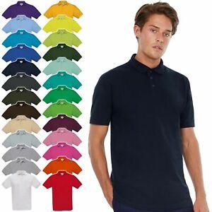 B&C: Herren Poloshirt, in 27 Farben, Baumwolle, 180 g/qm Piqué Safran PU409 NEW