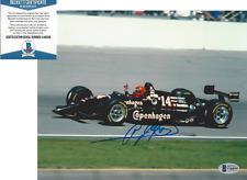 A.J. FOYT SIGNED 8x10 PHOTO INDY 500 CHAMPION DRIVER CAR AJ 8 BECKETT COA BAS