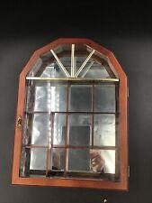 Vintage Curio Box Wall Display With Mirror Back.