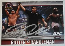 Bas Rutten Signed UFC 2015 Topps Champions Championship Clashes Card #11 20 Auto