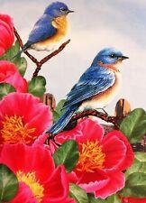 "New Blue Birds Garden Flag 12""X18"" Designer Decorative Weatherproof Small Banner"