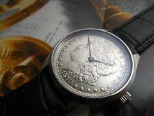 1879 REAL MORGAN SILVER DOLLAR DIAL SWISS 870 HAMILTON MOVEMENT BREGUET HANDS