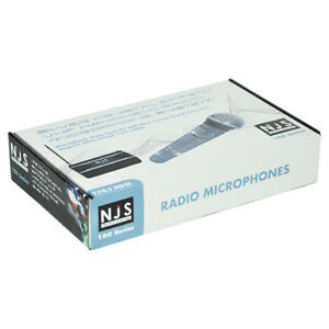 """NJS SILVER CYSTAL EFFECT VHF RADIO MICROPHONE SYSTEM """"BRAND NEW IN BOX"""""""