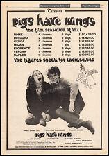 PIGS HAVE WINGS__Original 1977 Trade AD promo / poster__LOU CASTEL__ANNA NOGARA