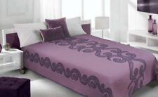 Zweiseitige Steppdecke 170x210 Bettüberwurf Tagesdecke Violett Lila Baumwolle
