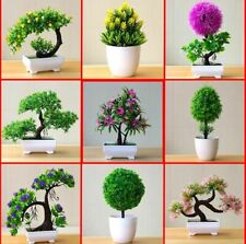 Artificial Plants Bonsai Small Flowers Potted Ornaments Tree Pot Home Decoration