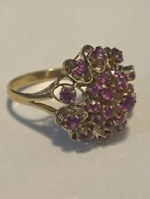 Size O, Gold and Ruby Vintage Ring with $1,300 valuation - Hallmarked 18K