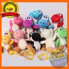 "10Pcs/Lot 4""  Super Mario Bros Yoshi Plush Toys Stuffed Soft Dolls With Keychain"