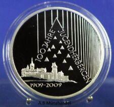 10 Euro-Silber-Gedenkmünze 2009 G  – 100 Jahre Jugendherberge -  spiegelglanz PP