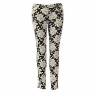 7 FOR ALL MANKIND Trousers Black & White Floral The Skinny Size 27 HJ 145
