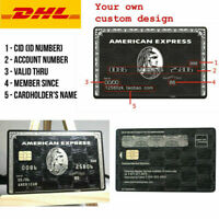 American Express Centurion Black Card Customise your own Amex Metal w/ chip SALE