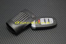 For Audi Q3 Q5 Q7 A4 S4 A5 S5 A6 S6 A7 Sline Carbon Fiber Remote Key Cover Glove
