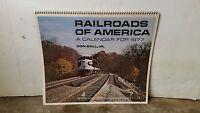 Railroads of America A Calendar For 1977 Don Ball, JR.