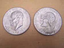 LARGE Metal Bicentennial Eisenhower Ike Dollars Replicas 1776-1976