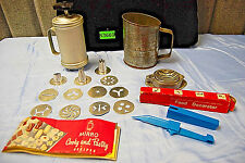 Assorted Vintage Kitchen Items: Cooky Press, Sifter, Slicer (#S3669) MUST SEE