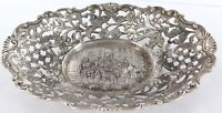 .VINTAGE / QUALITY / VERY DECORATIVE DUTCH PIERCED HIGH RELIEF .833 SILVER BOWL.