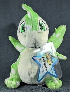 NWT 2008 Series 6 Speckled Scorchio Neopets Keyquest Plushie w/CODE green dragon