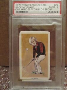 1979 Venorlandus Jack Nicklaus Masters Our Heroes World of Sport PSA 9 Mint