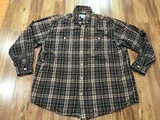 Xl - Carhartt S131 Midweight Flannel Long Sleeve Work Shirt