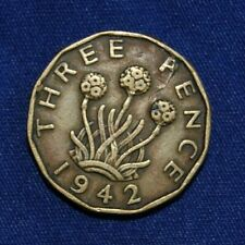 Great Britain Three Pence 1942 coin