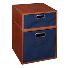 Niche Cubo Storage Set- 1 Full/1 Half w/ Foldable Storage Bins- Cherry/Blue