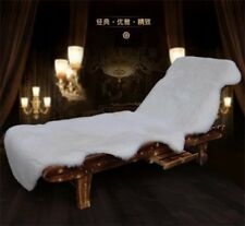 White Genuine Australian Fur Sheepskin Rug Wool Sofa Chair Cushion Blanket Throw