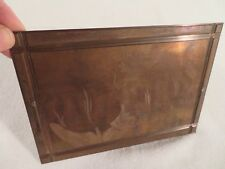 Vtg Etching Engraved Printing Machine Press Plate Stamp ~ Bearded Tulip Red