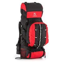 Yukatana Almer Sac à dos randonnée trekking voyage 80L 40x80x35cm rouge & noir