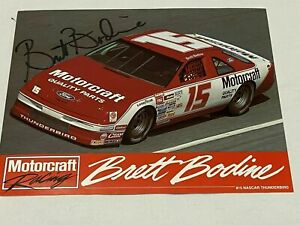 Brett Bodine autographed VINTAGE MOTORCRAFT FORD THUNDERBIRD HERO CARD photo #15
