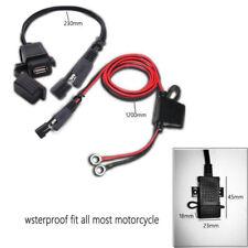 12V Motorrad KFZ Ladegerät SAE to USB Adapter Stecker Wasserdicht W/ Kabelbinder