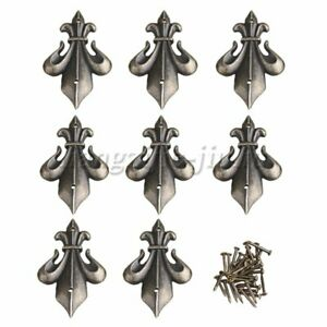 8PCS Shield Shape Edges with Screws Vintage Style Decor for Furniture