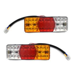 3Colors LED Waterproof Tail Light Reverse Brake Stop Motorcycle Turn Signal ALUK