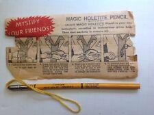 Magic Holetite Pencil Vintage Trick, Instructions & Pencil