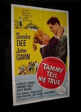 Original 1961 TAMMY TELL ME TRUE 27X41 O/S SANDRA DEE JOHN GAVIN   NEAR MINT
