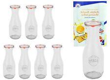 8 Weck Gläser 530ml Saftflasche Deckel Gummi Klammer Einmachglas Einweckglas