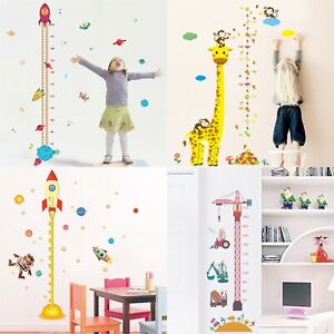 Removable Height Chart Measure Wall Sticker Decal Kids Baby Room Giraffe RoCI