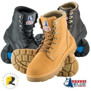 Steel Blue Argyle Mens Work Boots Safety Toe Cap 312102