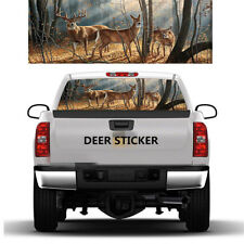 DEER FAMILY Window Graphic Tint Decal Sticker For Truck Jeep SUV Hunting Buck